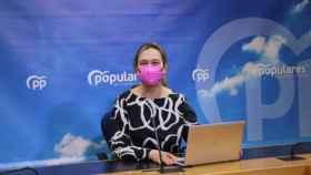 Ana Guarinos, este lunes en rueda de prensa