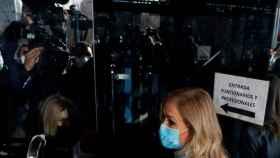 Cristina Cifuentes a su llegada a la Audiencia de Madrid el 15 de febrero para conocer la sentencia.