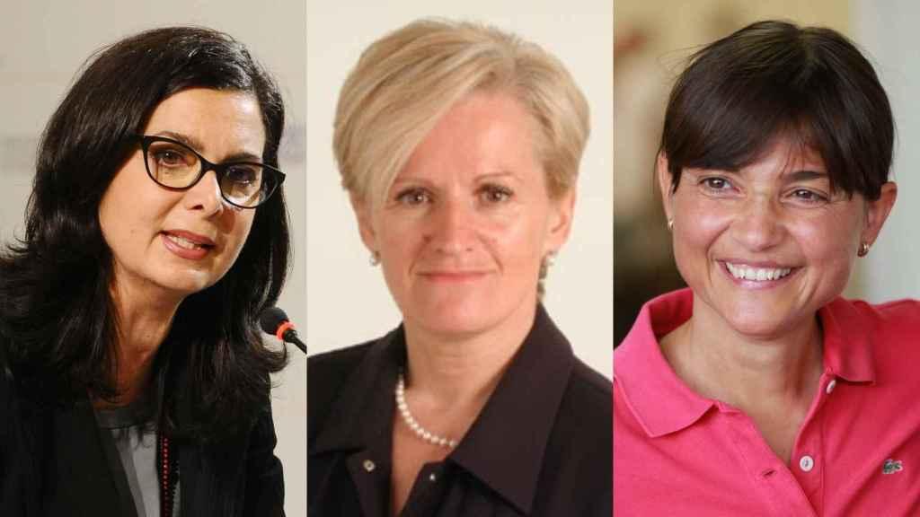 Tres políticas del PD que han denunciado el machismo en el partido: Laura Boldrini, Livia Turco y Debora Serracchiani.