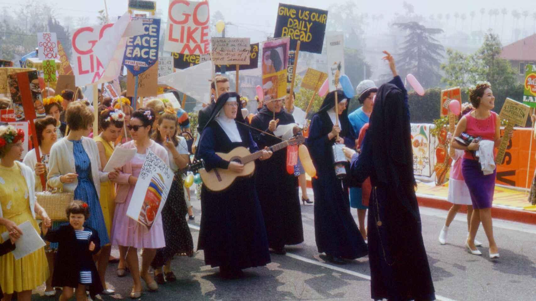 Las protestas de las monjas en Los Ángeles.