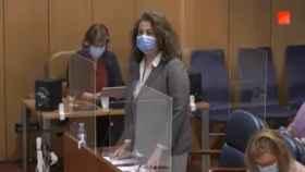 Carla Antonelli, en la Asamblea de Madrid.