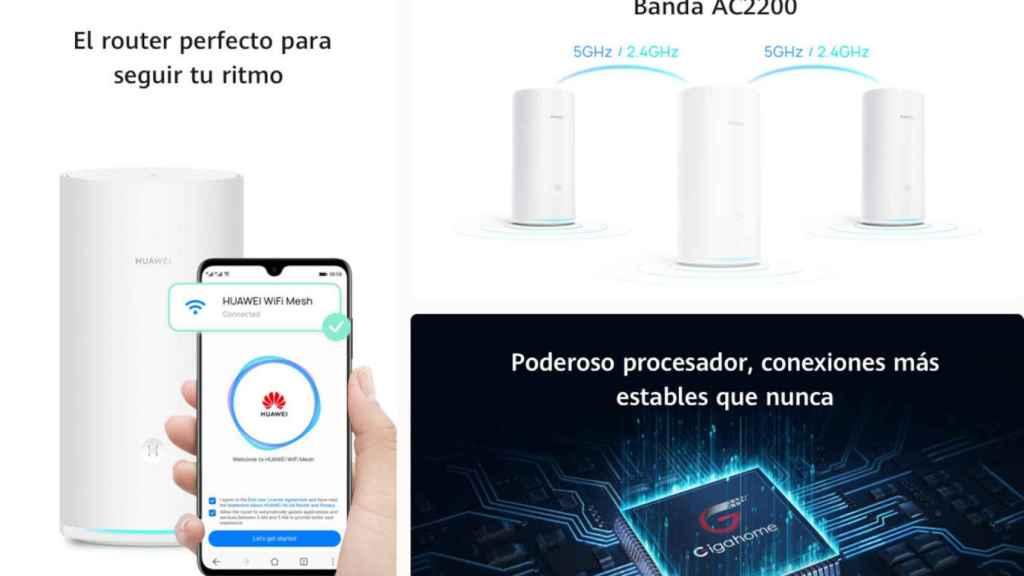 Características de Huawei WiFi Mesh