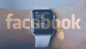 Apple Watch con el logo de Facebook