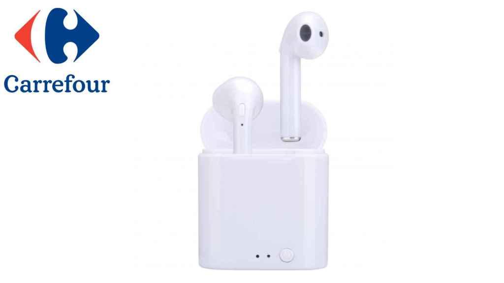 Carrefour ofrece sus auriculares tipo AirPods por menos de 13 euros.