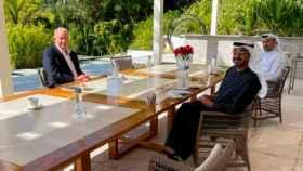 Imagen difundida de Juan Carlos I en Abu Dabi.