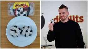 Dabiz Muñoz, cocinero tres estrellas Michelin, y las rosquillas que ha creado, los Donuts XO.