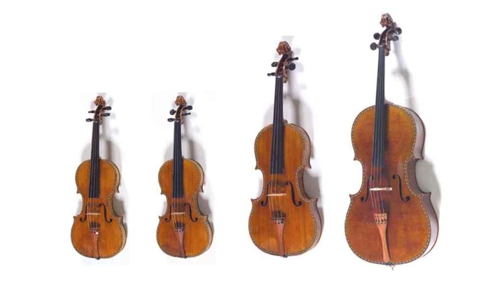 Los cuatro instrumentos del Cuarteto Palatino.