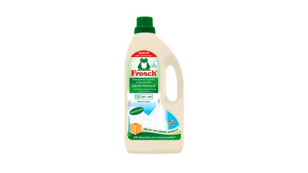 Botella de detergente Frosch.