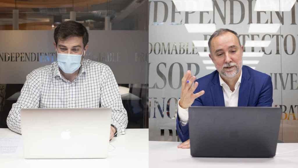 Cristian Campos conversa telemáticamente con los suscriptores de EL ESPAÑOL gracias a la mediación de Mario Díaz, subdirector.