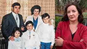 Foto de la familia y de los dos supervivientes de ETA de los que Pepa Bueno cuenta ahora la historia.