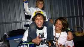 Valentino Rossi, Luca Marini de pequeño y su madre Stefania de Palma