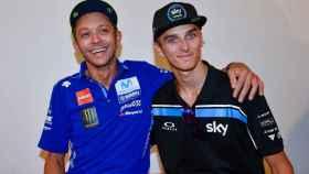 Valentino Rossi y Luca Marini