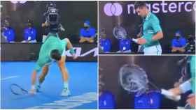 Djokovic rompe la raqueta en el Open de Australia