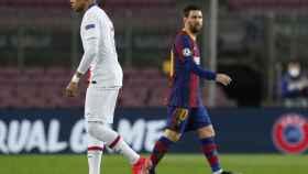 Cruce de Kylian Mbappé y Leo Messi