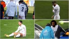 Collage de la plaga de lesiones en el Real Madrid