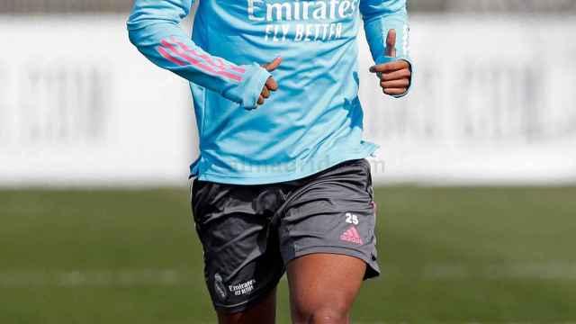Rodrygo Goes, durante un entrenamiento del Real Madrid