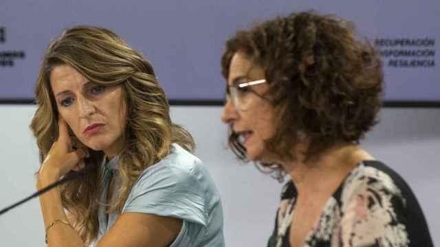 Yolanda Díaz y María Jesús Montero, ministras de Trabajo y Hacienda.