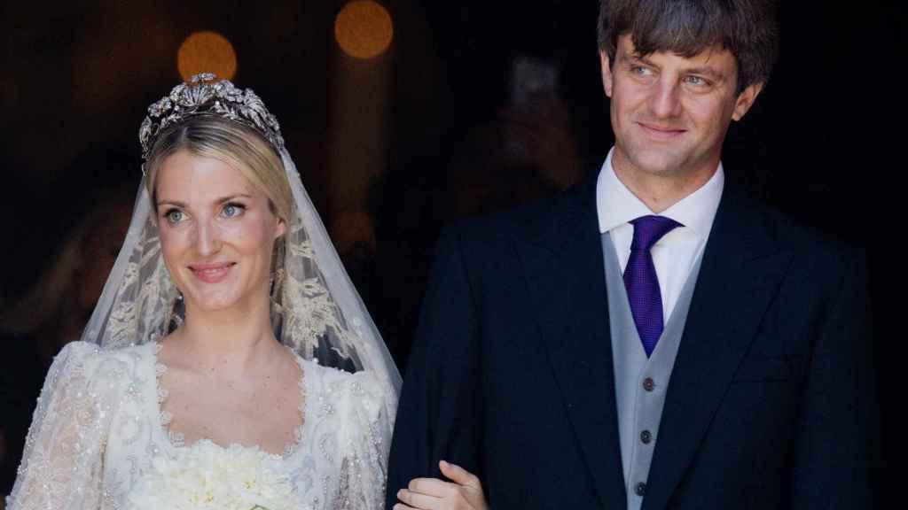 Ernesto de Hannover hijo y Ekaterina durante su boda.