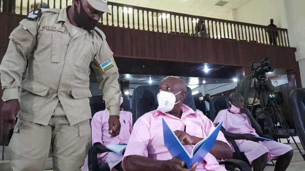 Paul Rusesabagina, durante el juicio.