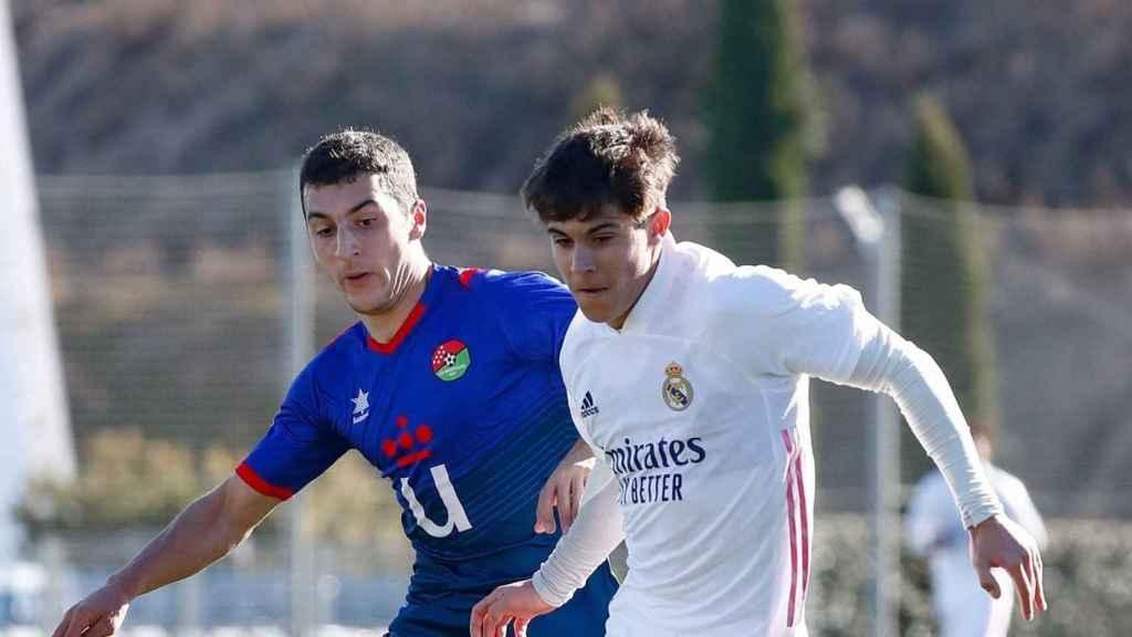 Loren Aguado, jugando con el Real Madrid Castilla
