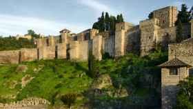 La fachada oeste de la Alcazaba de Málaga