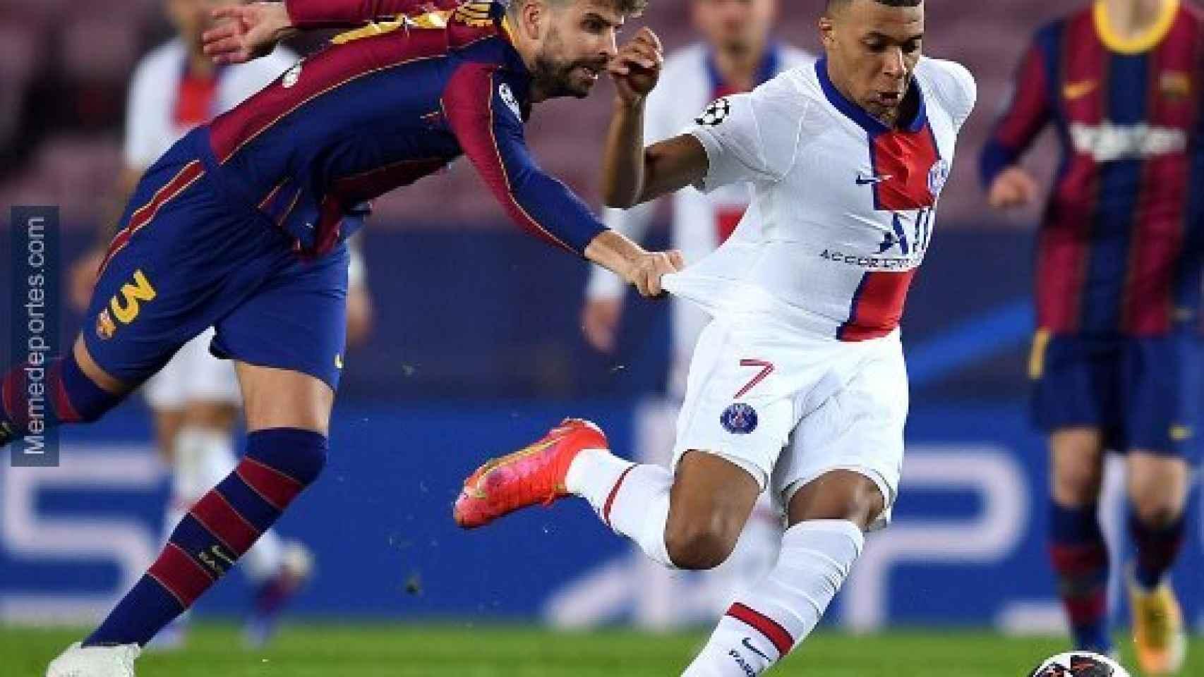 Meme del Barcelona - PSG de la Champions League