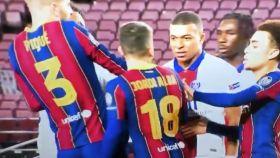 Mbappé y su bronca con Jordi Alba