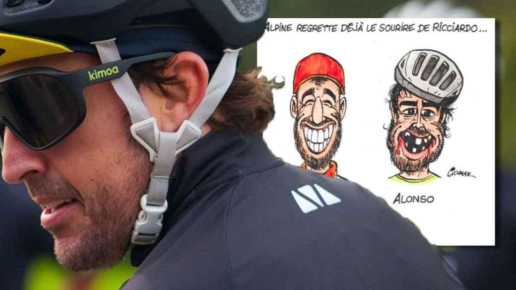 La polémica caricatura de Auto Hebdo contra Fernando Alonso