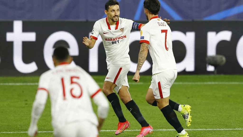 Gol de Suso en el Sevilla - Borussia Dortmund de la Champions League