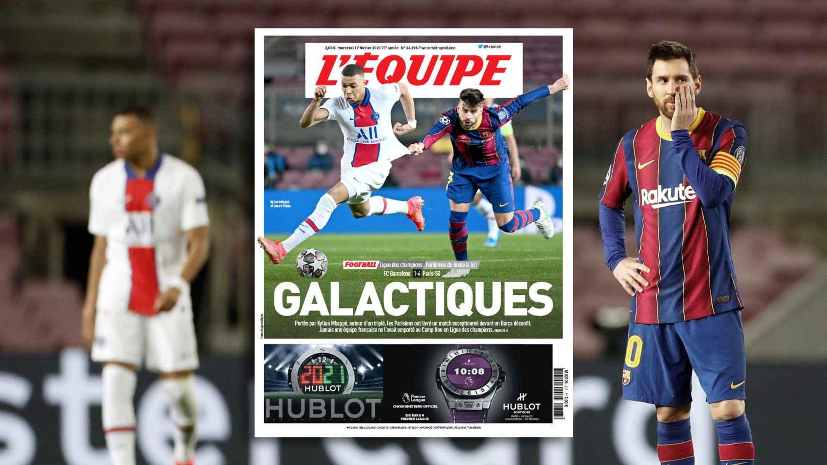 La prensa internacional 'retrata' al Barça tras el 1-4