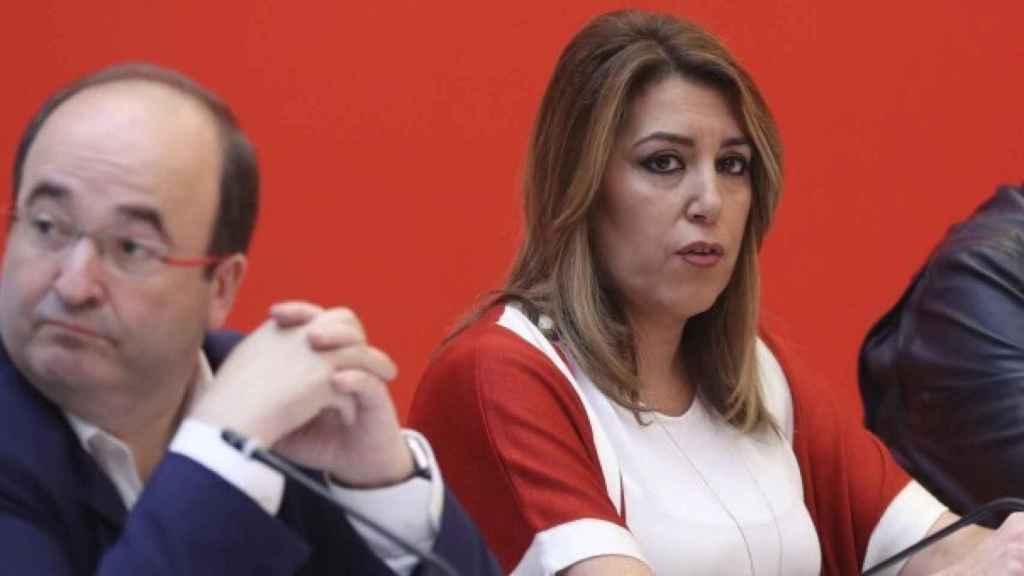 La secretaria general del PSOE andaluz, Susana Díaz, con Miquel Iceta en una imagen de archivo.