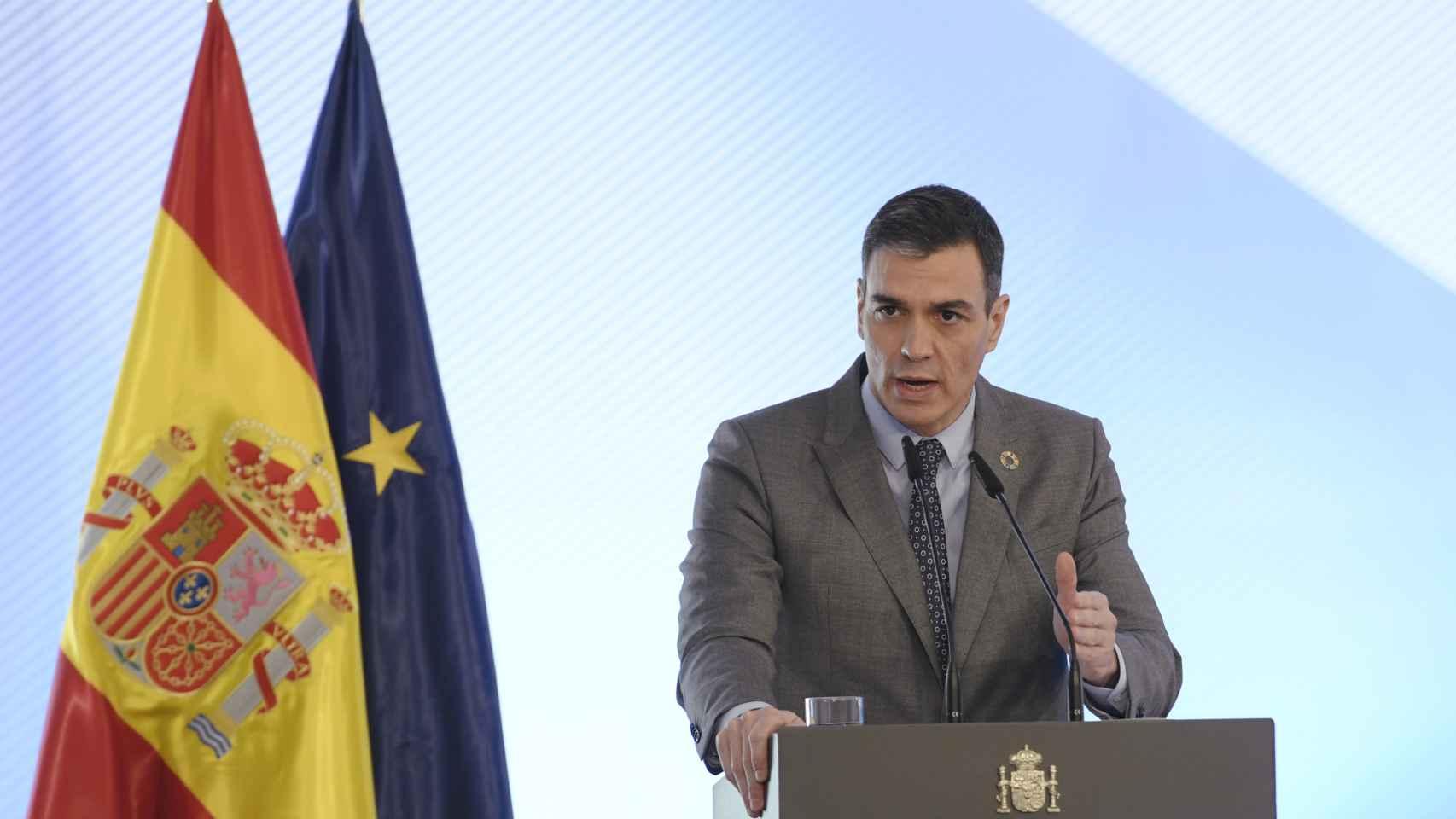 El presidente del Gobierno, Pedro Sánchez, preside el acto de firma del Protocolo sobre Alquiler Social de Viviendas, en La Moncloa, Madrid, (España), a 17 de febrero de 2021.