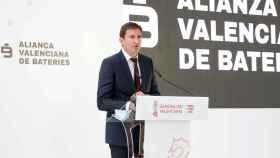 David Salvo, CEO de Power Electronics, durante la presentación del proyecto Element Valencia. EE