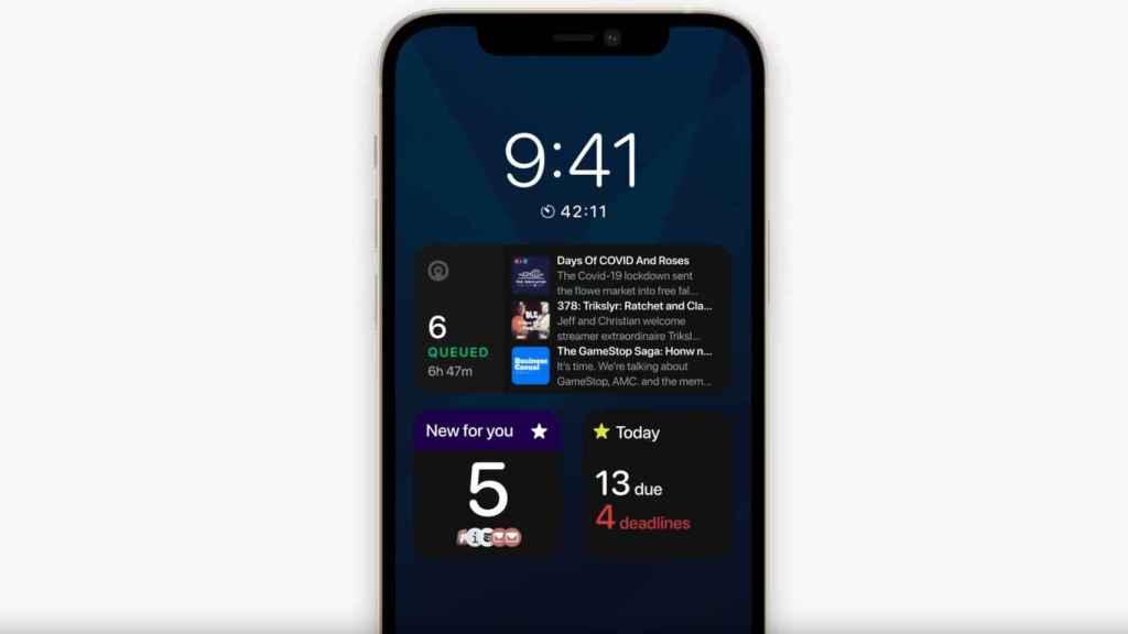 Demostración de cómo sería la pantalla siempre encendida del iPhone 13