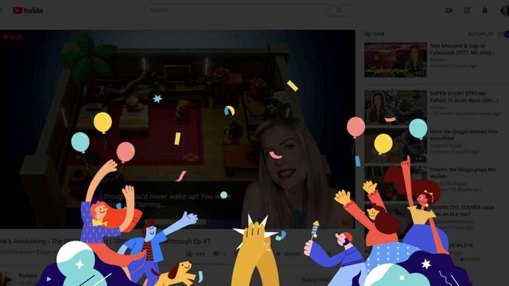 La nueva función de aplausos de YouTube