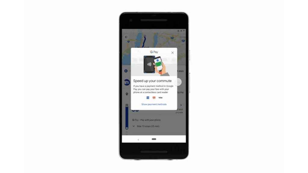 Google Maps permitirá pagar el transporte público