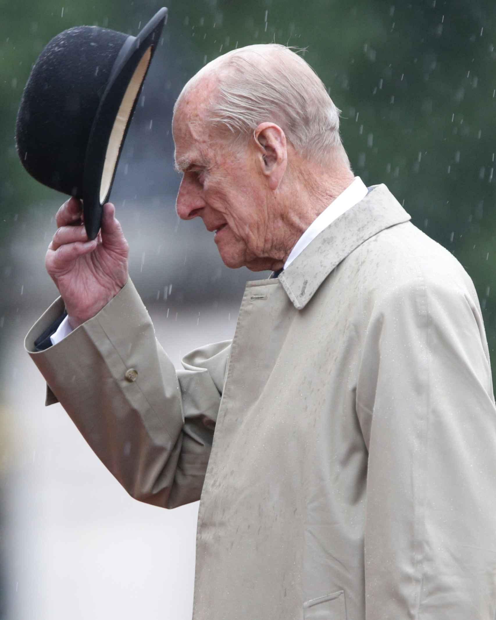 El duque de Edimburgo en su último acto institucional de carácter público en el verano de 2017 en Londres.