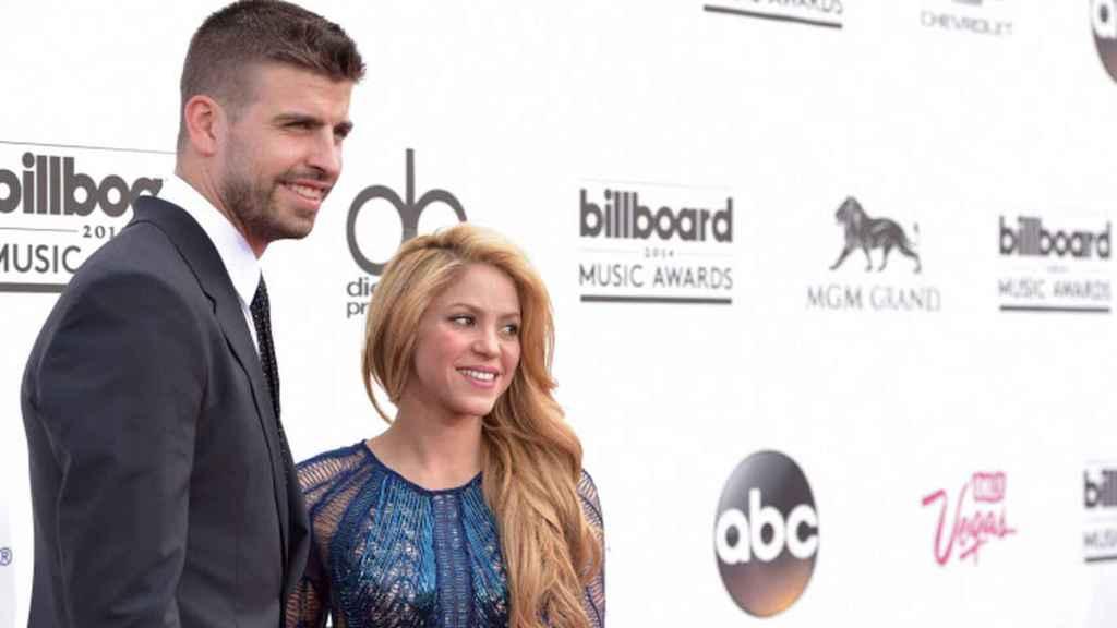 Shakira and Piqué, at the 2014 Billboard Awards.