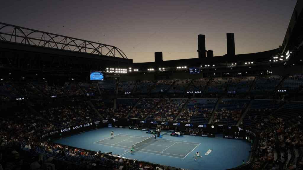 La Rod Laver repleta de gente durante una de las semifinales del Open de Australia