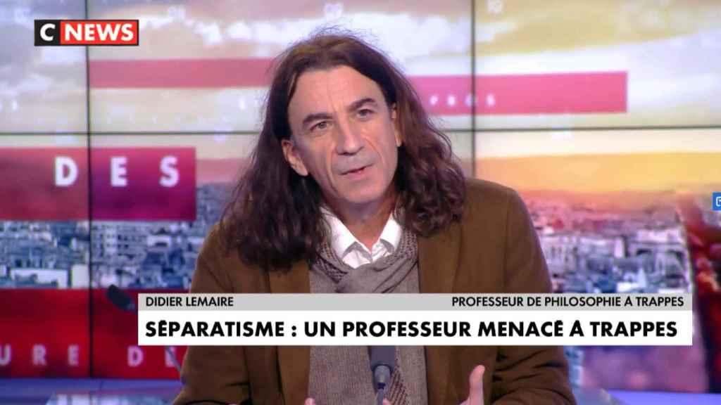 Didier Lemaire, en un fotograma de una entrevista a CNews.
