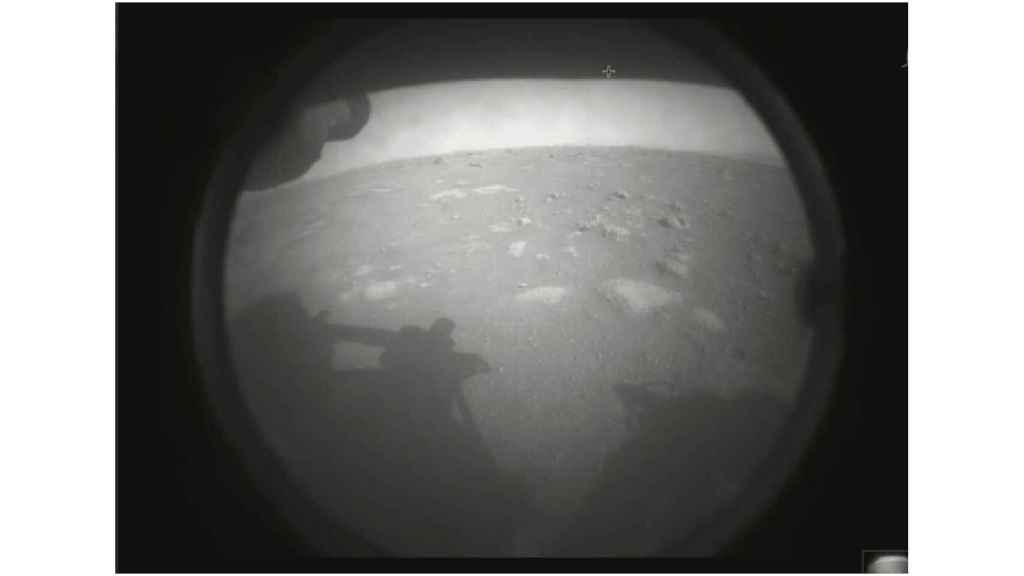Primera imagen de Marte tomada por el Perseverance