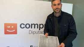 El portavoz de Compromís en la Diputación de Alicante, Gerard Fullana.