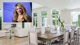 Shakira en montaje de JALEOS junto al salón de su casa de Miami.