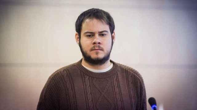 El rapero Pablo Hasél ante el juez.