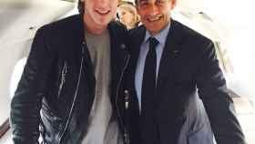 Kyril Louis-Dreyfus junto a Nicolas Sarcozy en 2017. Foto: Instagram (kyrillouisdreyfus)