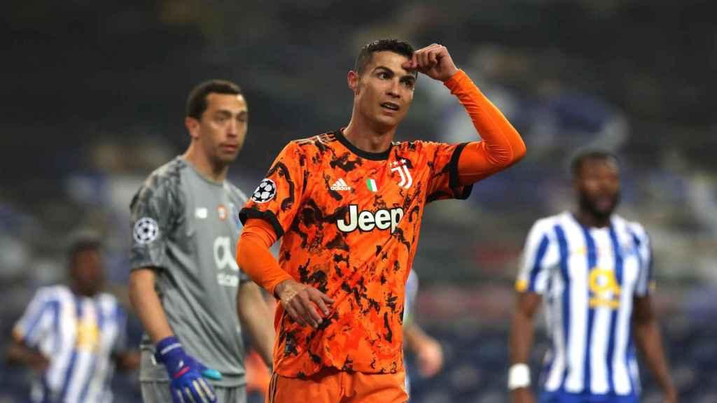 Cristiano Ronaldo en el partido de Champions contra el Oporto