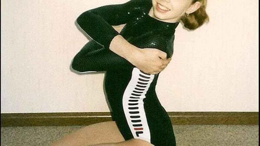 La gimnasta Verona Van de Leur en 1999
