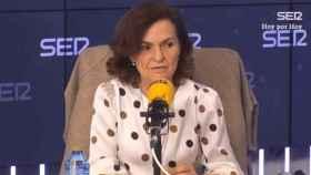 La vicepresidenta primera del Gobierno, Carmen Calvo, en la SER.
