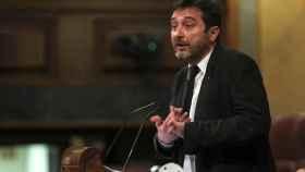 Rafa Mayoral, portavoz de Podemos, en el Congreso.