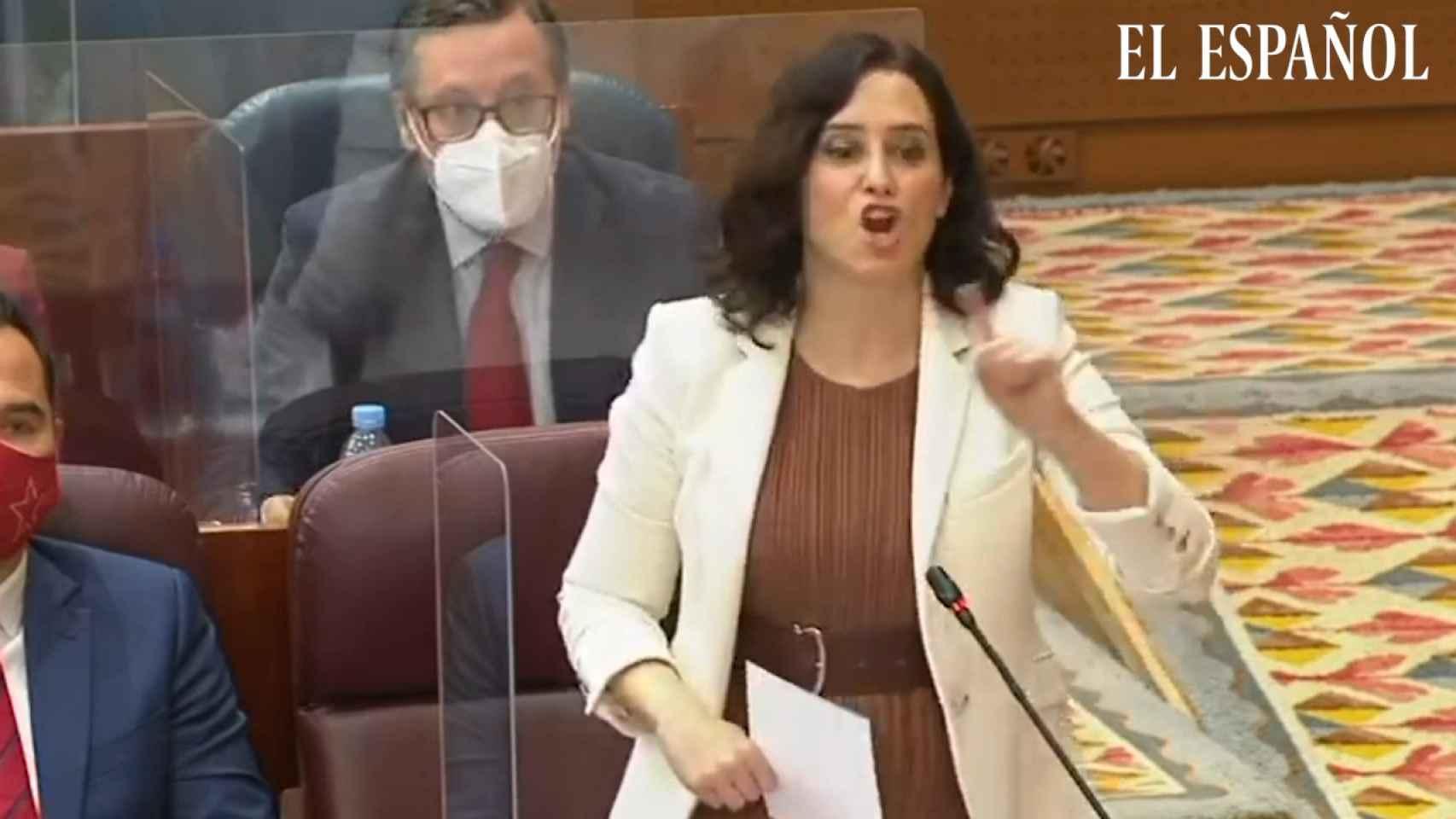 Isa Serra y Ayuso se enzarzan por la violencia en Madrid Podemos no condena